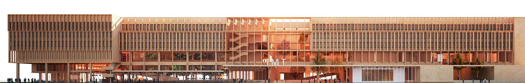 façade bâtiment Télécom ParisTech - Campus Paris-Saclay
