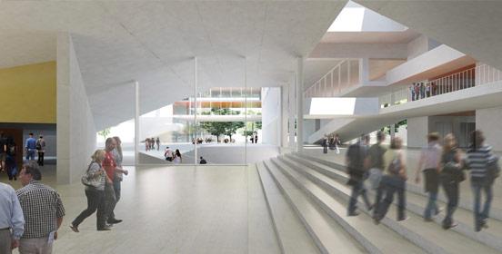 Hall d'Accueil - Télécom ParisTech - campus Paris-Saclay
